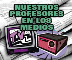 Profesores en los medios