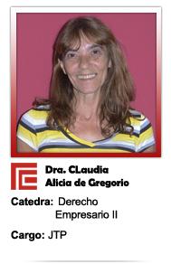 De Gregorio Claudia Alicia